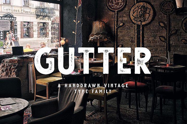 Gutter - Handdrawn Sans 4 Styles