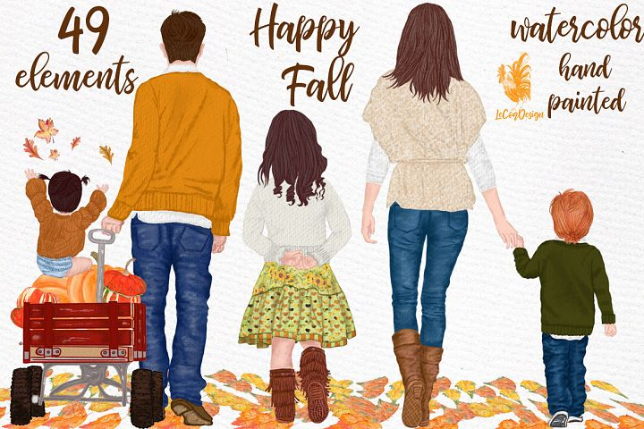 Fall clipart, Family clipart, Thanksgiving clipart,