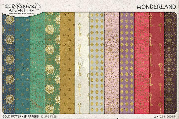 Wonderland Gold Patterns