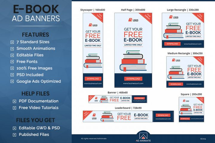 E-book Animated Ad Banner Template