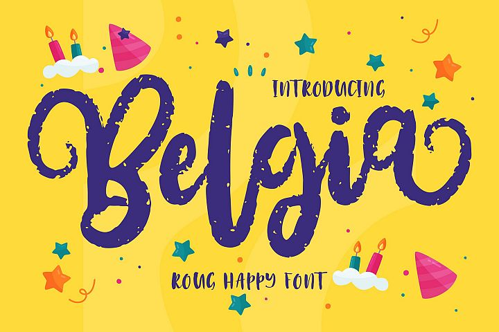 Belgia | Decorative Happy Font
