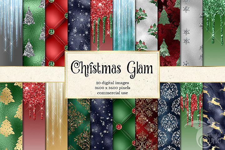 Christmas Glam Digital Paper