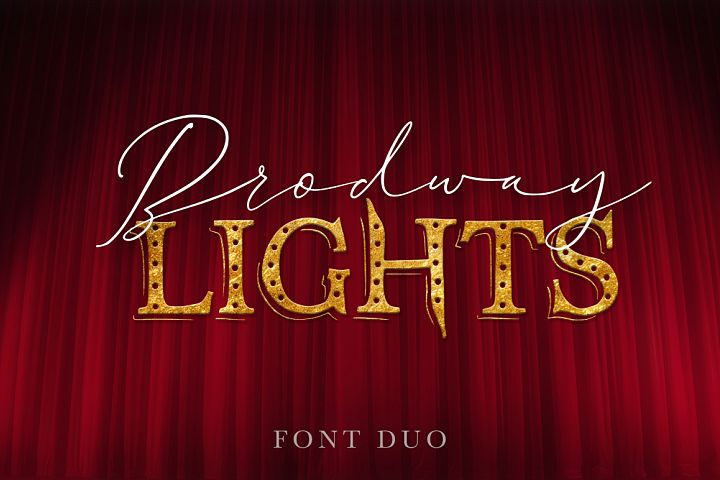 Broadway Lights. Duo font.