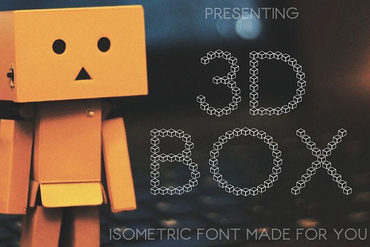 3D Box Font Isometric Style Paper Cut