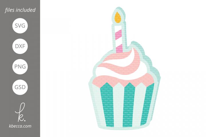 Cupcake Card SVG Cut Files