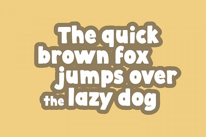 Cobnut - a nutty, bold and fun font example image 8