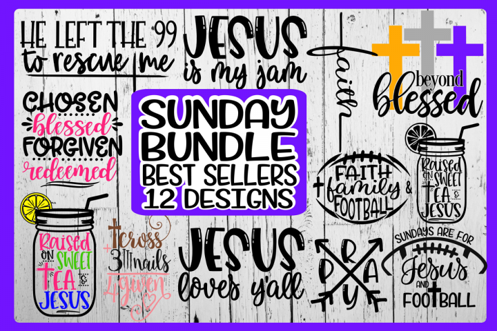 SUNDAY BUNDLE - Best Sellers - 12 Designs - Vol 2