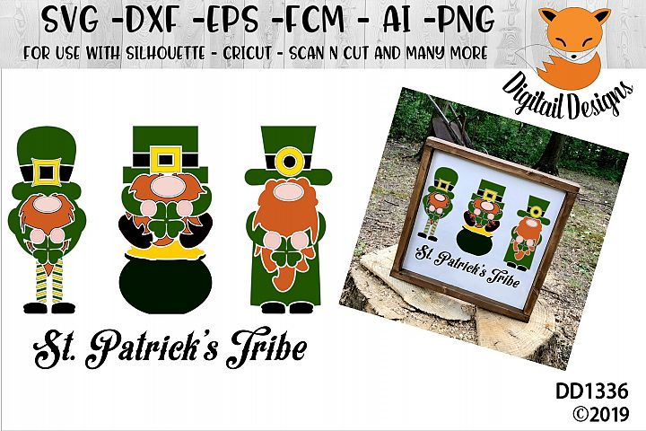 St Patricks Day Gnomes Tribe SVG