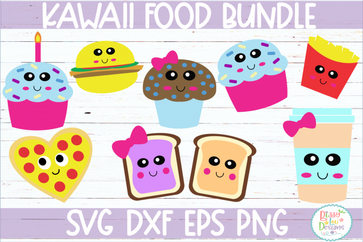 Kawaii Food Bundle SVG Cutting File
