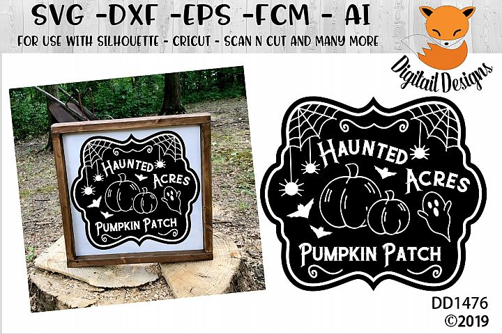 Pumpkin Patch Sign SVG