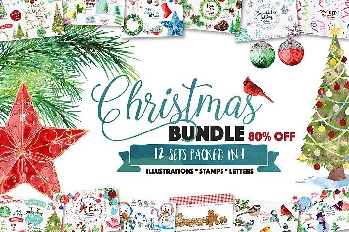 Christmas Bundle of Illustrations