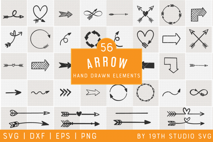 Arrows Hand drawn Elements | Arrows SVG Bundle| VB34