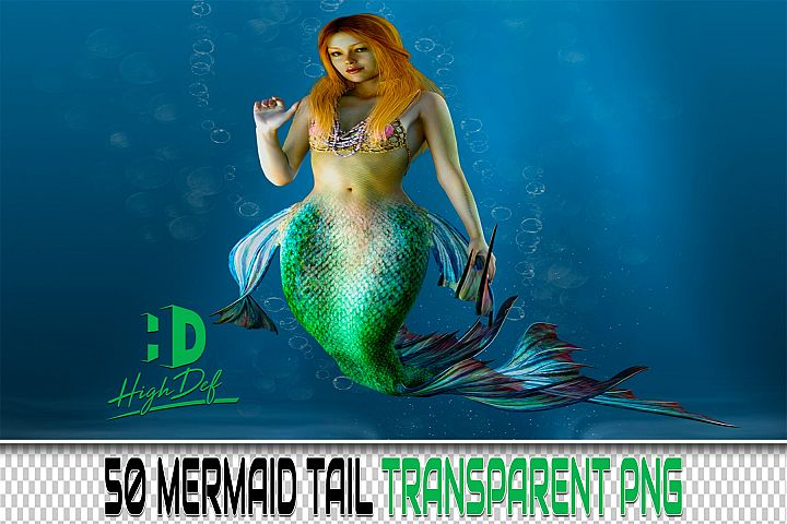 50 MERMAID TAIL PNG PHOTOSHOP OVERLAYS BACKGROUNDS BACKDROPS