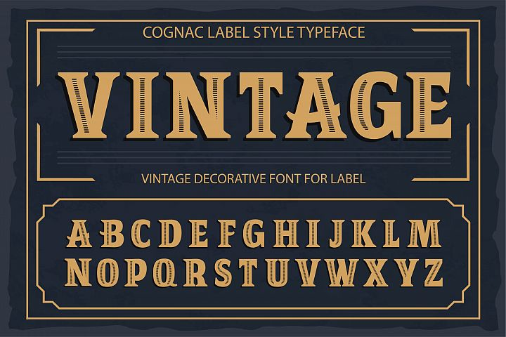 Vintage OTF vintage label font. Uppercase only!