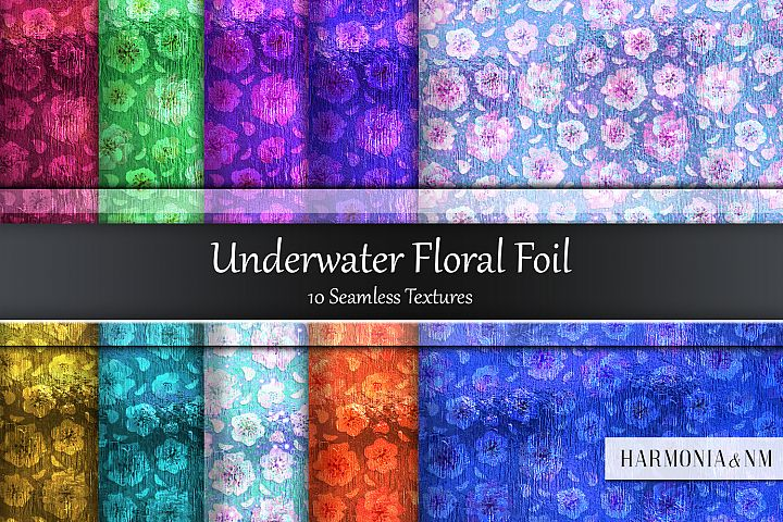 Underwater Floral Foil 10 Seamless Textures