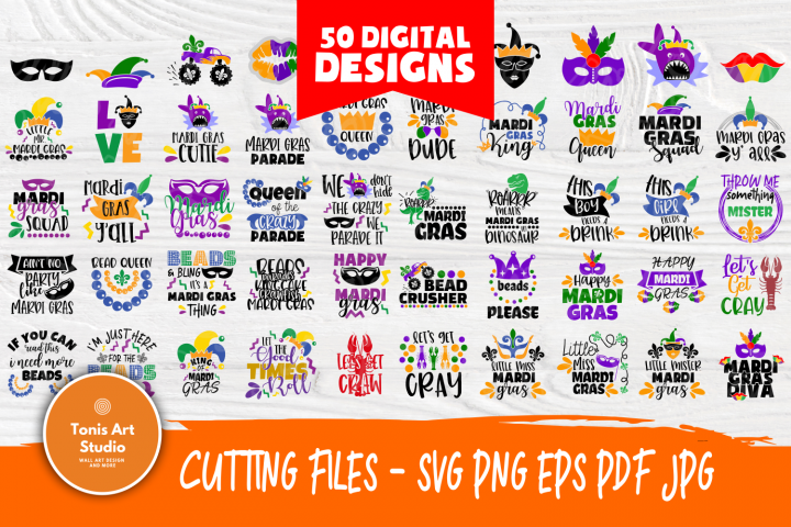 Mardi Gras SVG | SVG Bundle | SVG Cut Files | T shirt Desig