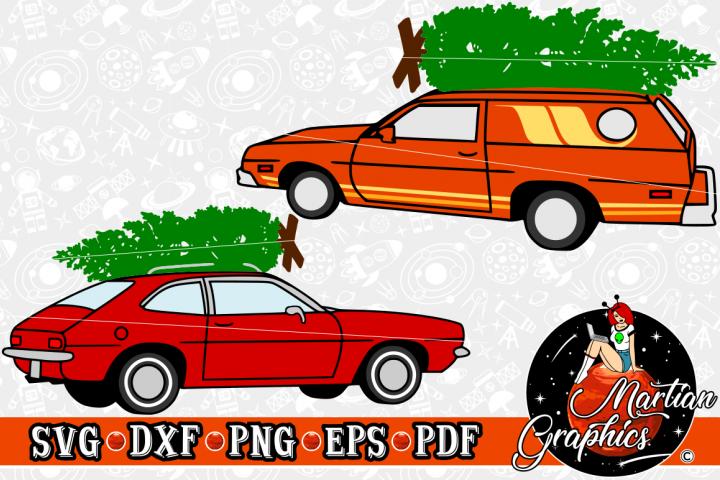 Vintage Christmas Cars Set - A Christmas SVG