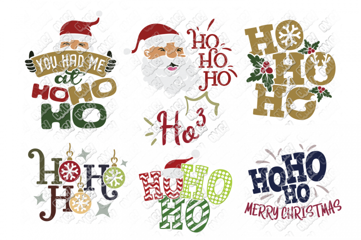 Ho Ho Ho SVG Christmas Santa in SVG, DXF, PNG, EPS, JPG