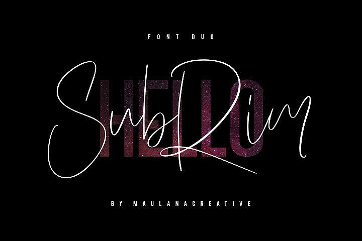 Hello Subrim Typeface