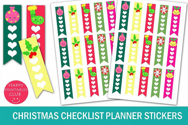 Christmas Checklist Planner Stickers-Christmas Stickers