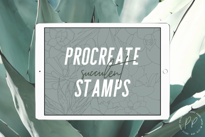 20 Procreate Succulent Stamps