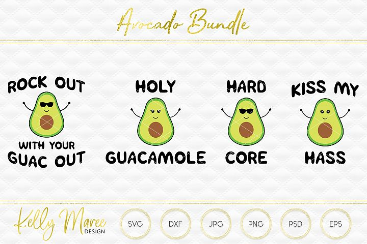 Avocado SVG File Bundle