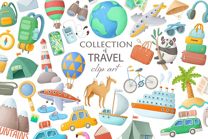 Travel clip art collection