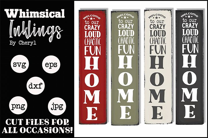 Crazy Loud Chaotic-Vertical Family SVG