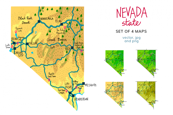 Nevada Maps