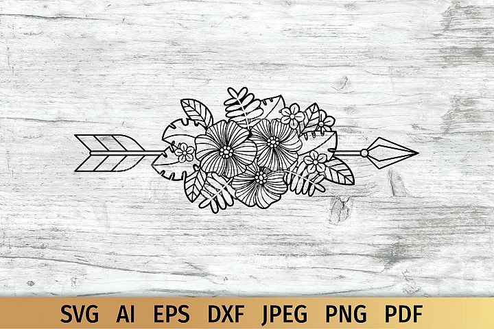 Floral Arrow, Boho svg