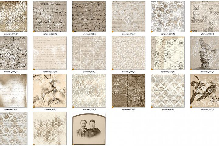 Sepia Ephemera Digital Paper - Free Design of The Week Design0