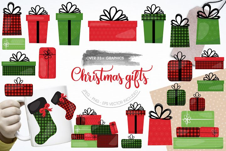 Christmas Gift graphic and illustrations