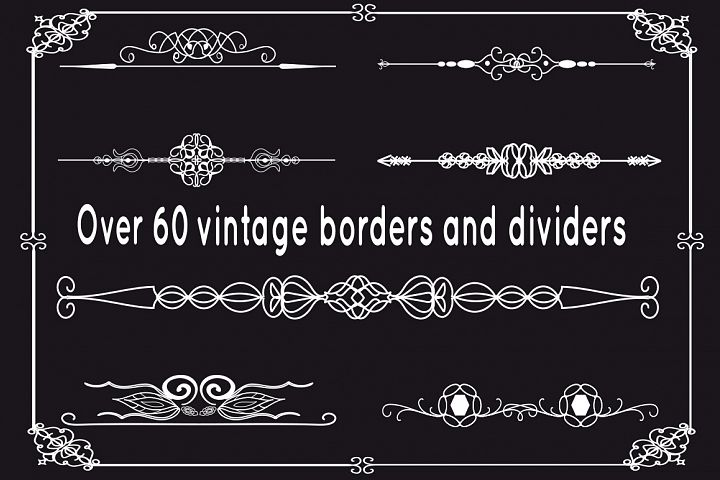 Vintage borders and dividers