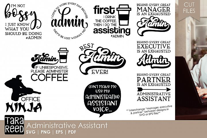 Administrative Assistant - Office SVG and Cut Files