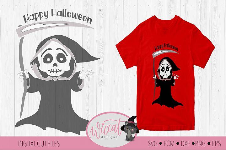 Grim reaper svg, scythe svg, skeleton svg file, halloween