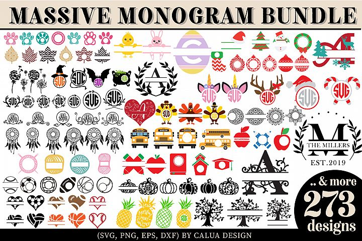 Massive Monogram SVG Cut File Bundle