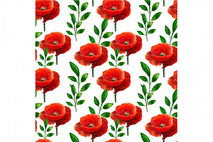 Seamless pattern with maquis.