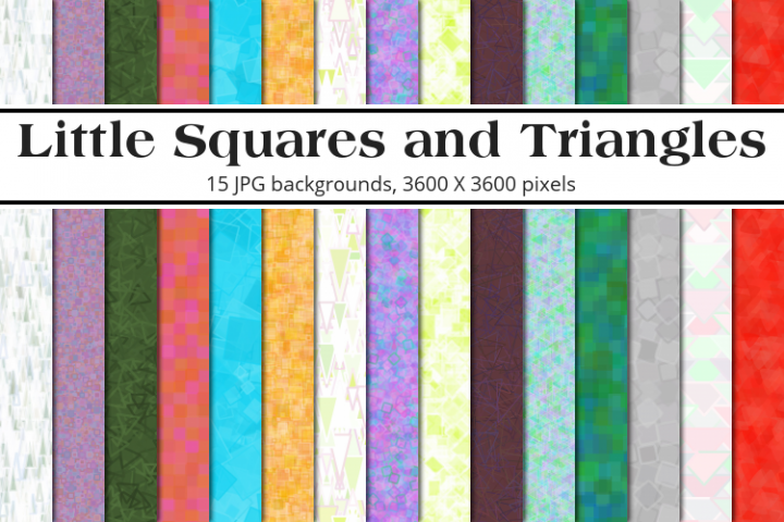 Little Squares & Triangles Background Pack
