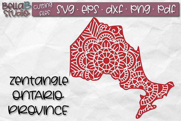 Zentangle SVG, Ontario SVG, Canada SVG, Canadian SVG File