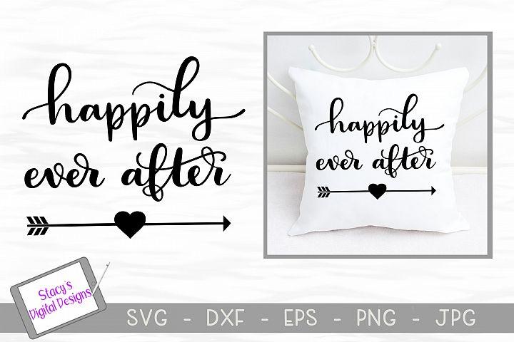 Wedding SVG - Happily ever after svg, handlettered