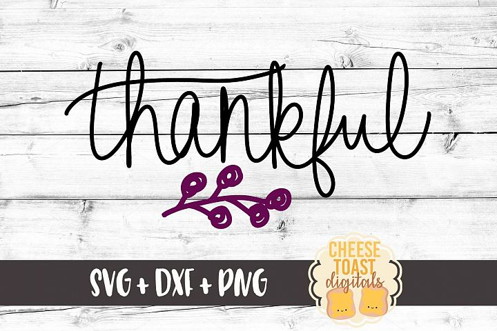 Thankful - Fall SVG File - Thanksgiving SVG File example 1