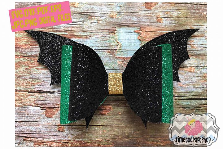 Batwing Hair Bow Template. Svg. Dxf. Pdf. Eps. Jpg. Png