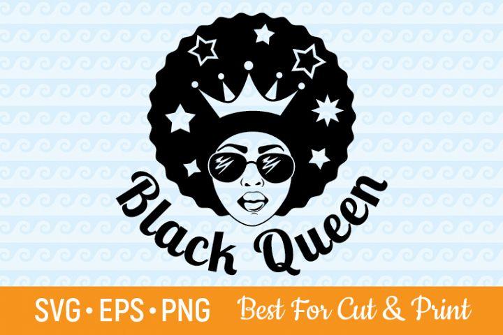 Black Queen SVG Afro SVG Afro Woman SVG Melanin SVG Lady