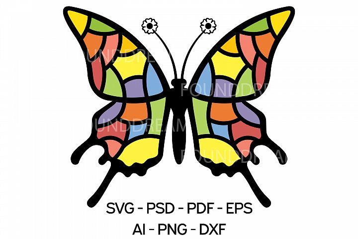 colorful Butterfly svg file | Vector files