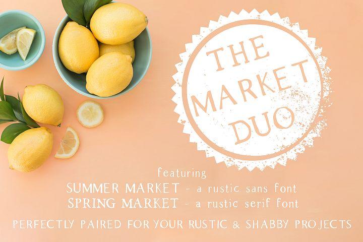 The Market Duo - Rustic Serif & Sans Font Combo