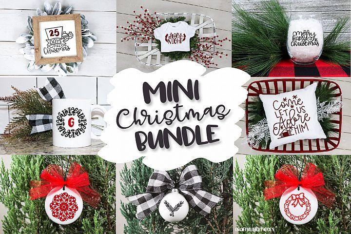 Mini Christmas Bundle - Hand lettered SVG Cut Files