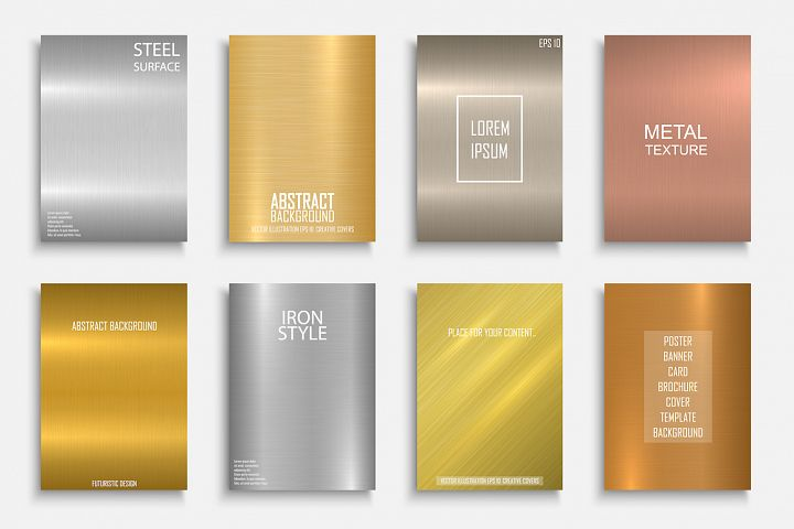 Colorful bright metallic covers