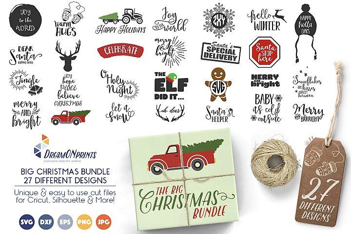 The BIG CHRISTMAS Holidays Bundle - 27 SVG Designs