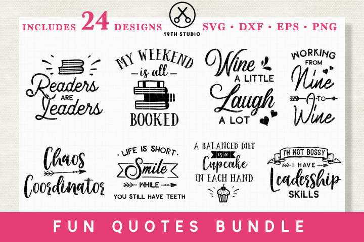 Fun Quotes SVG Bundle - MB10