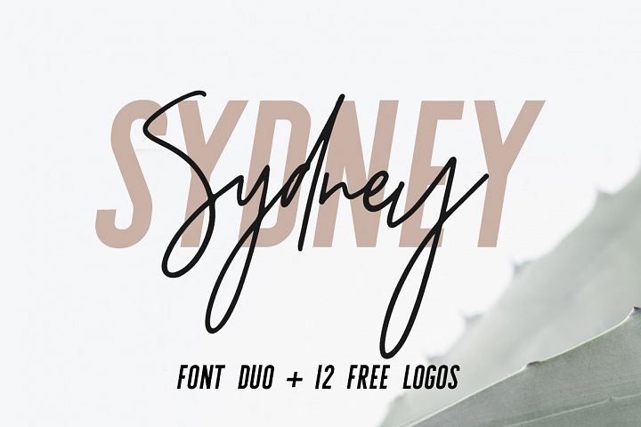 Sydney | Font Duo + 12 Free Logos